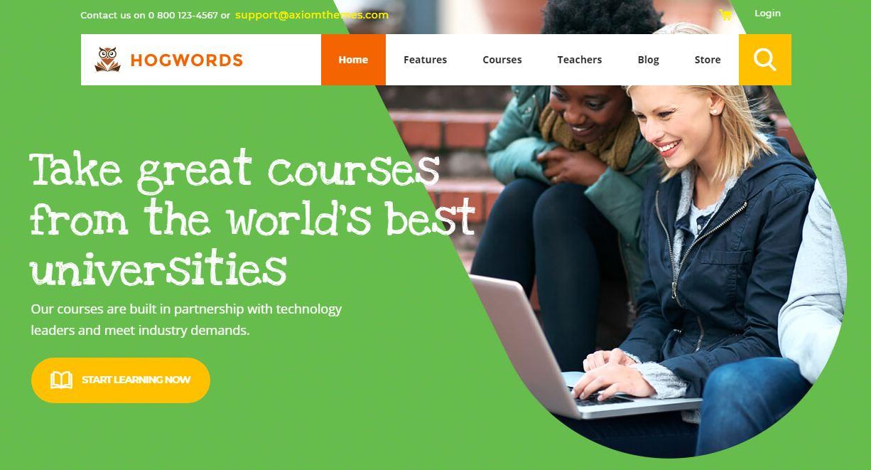 HogWords - mẫu website trung tâm ngoại ngữ - giáo dục