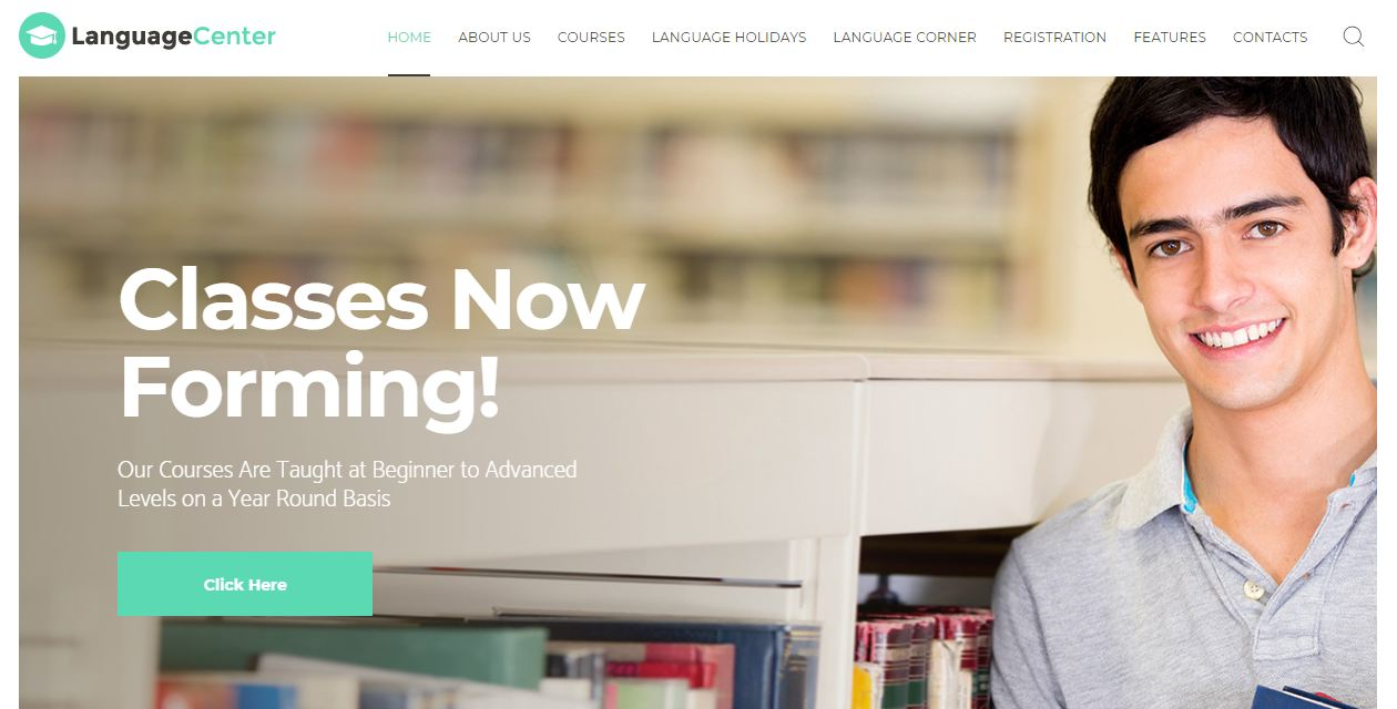 Language Center - mẫu website trung tâm ngoại ngữ