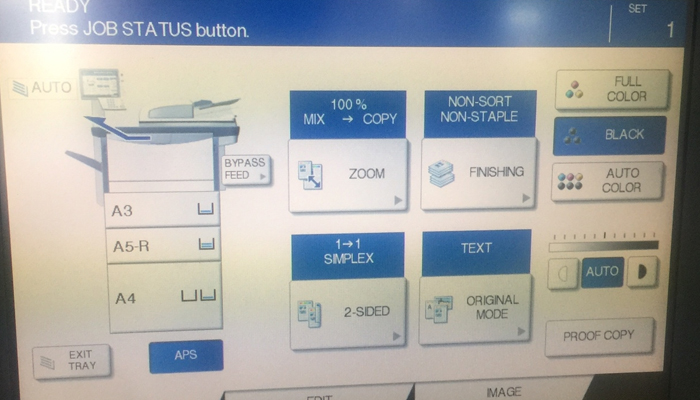 Ý nghĩa ký hiệu tiếng Anh trên màn hình máy photocopy