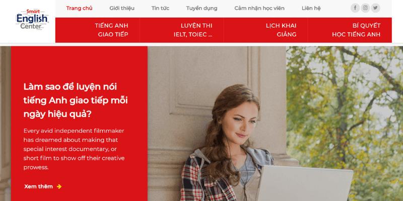 thiết kế website trung tâm giáo dục