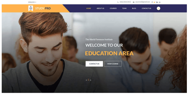 top 10 mẫu website tư vấn du học